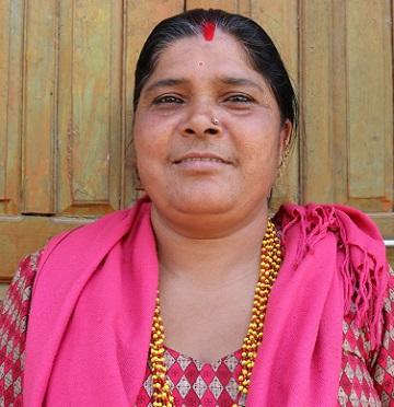 Duoga Ghimire working at Jitpur cooperative