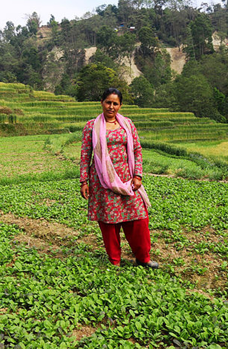 santa phuyal who took loan from jitpur cooperative to extend her farm business