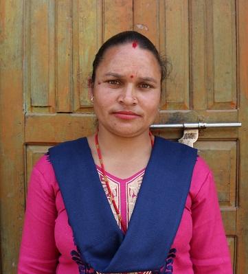 Sarita Dhakal at Jitpur cooperative